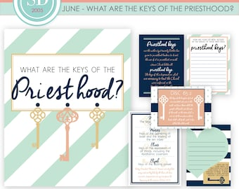 LDS YW Come Follow Me - June - What are the keys of the Priesthood? - Printable lesson helps - MB