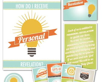 """LDS YW Come Follow Me - May """"How do I receive personal revelation?"""" - Printable Lesson Helps - MB"""