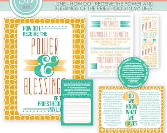 LDS YW Come Follow Me - June - Power and Blessings of the Priesthood - Printable Lesson Helps - MB