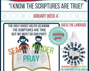 2016 - January Week 4 Sharing Time Kit