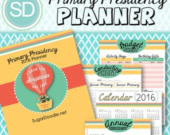 LDS Primary Presidency 2016 Planner - I know the scriptures are true