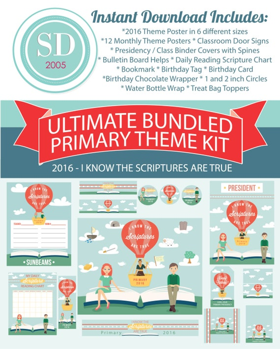 Ultimate 2016 LDS Primary Printables I know the scriptures | Etsy