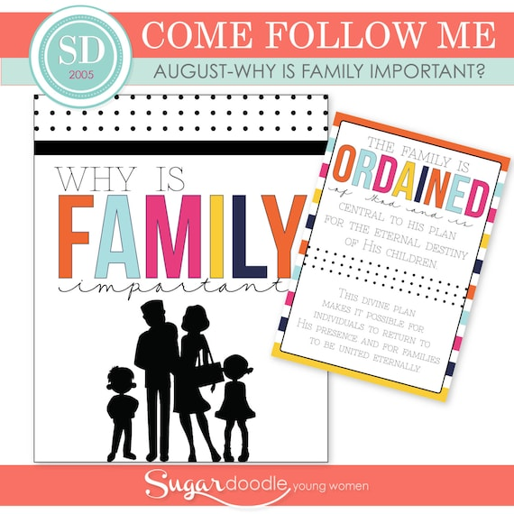 Lds Yw Come Follow Me August Why Is Family Etsy