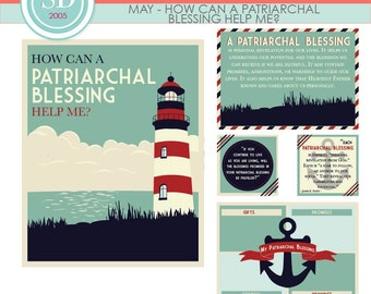 """LDS YW Come Follow Me - May - """"How can a patriarchal blessing help me?"""" - Printable Lesson Helps - MB"""
