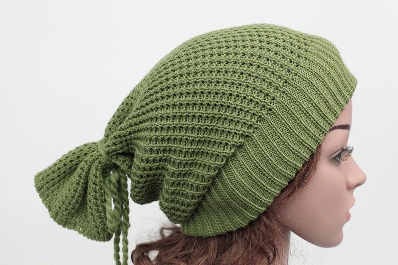 afbc13dd8de55 Slouchy knit hat Beanies Womens Hats Long Back Crochet