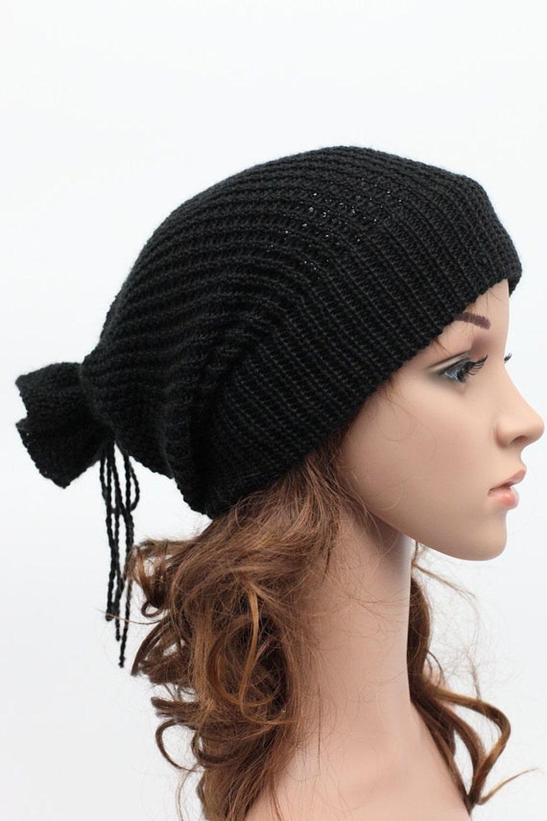 102e1d631a57a Slouchy knit hat Beanies Womens Hats Extra Long Back Crochet