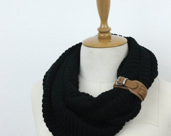knit  infinity scarf circle scarf winter scarfs neck warmer cowl birthday gifts women's accessory fashion scarves