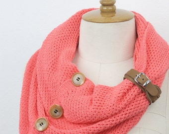 button infinity scarf ,,circle scarf ,winter scarfs ,neck warmer, cowl  fashion scarves