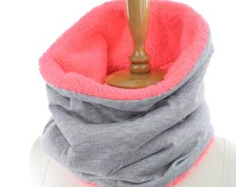 fleece Neck warmer   infinity scarf circle scarf winter scarfs neck warmer cowl, birthday