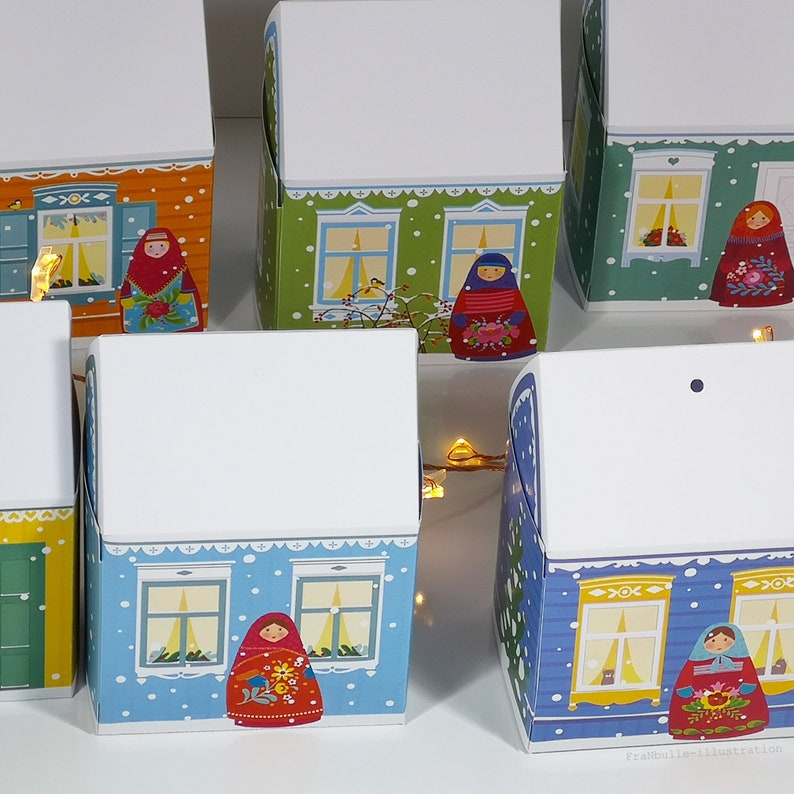 Boxes miniature houses dachas packaging for small guest image 0