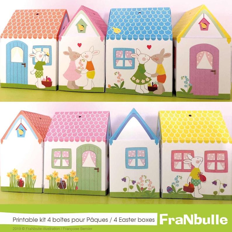 Printable gift boxes The bunnieshouses Easter image 0