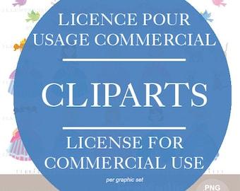 License for commercial use clipart FraNbulle-illustration/Françoise Bernier