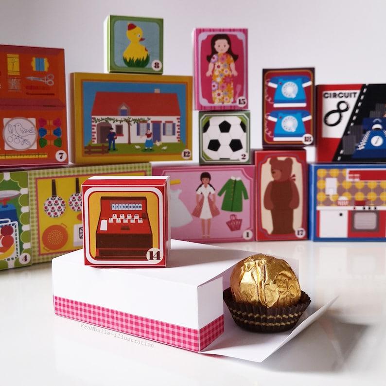 Advent Calendar Vintage Toys. Boxes for Advent image 0