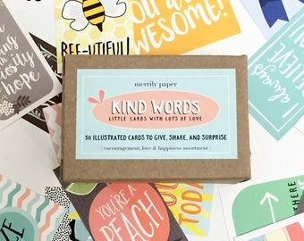 Kind Words | Gift Cards | Little Notes | Lunchbox Notes | 30 Card Set | Motivational | Encouragment