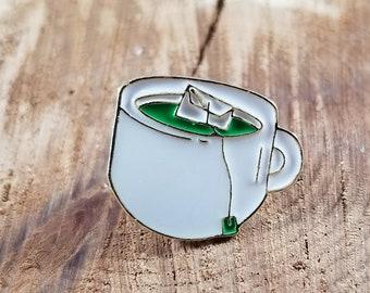 Matcha Green Tea Enamel Pin! ~Magick, Witch, Herb Nerd