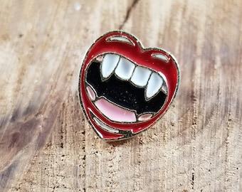 Love Bites Enamel Pin! ~Kink, Vampire, Kiss, Lips, Dark Humor