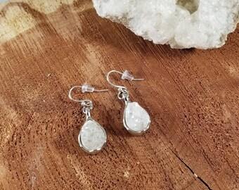 Opal Aura Quartz Druzy Earrings! ~Witch, Mystic, Boho