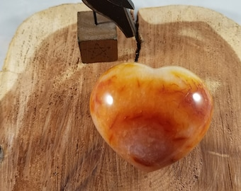 212g Red Agate Puffy Heart! ~Reiki, Energy Work, Love