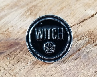 Witch & Pentacle Enamel Pin! ~Witch, Mystic, Magick