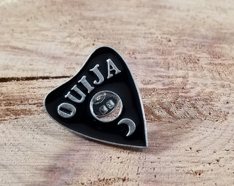 Ouija Planchette w/ Crescent Moon Enamel Pin! ~Mystic, Magick, Witch, Divination, Spirits