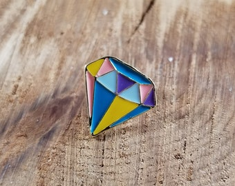 Multi-color Diamond Enamel Pin! ~Magick, Gemstones, Energy Work