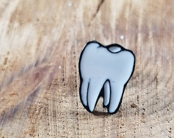 Human Tooth Enamel Pin! ~Magick, Witch, Bones, Goth, Funny