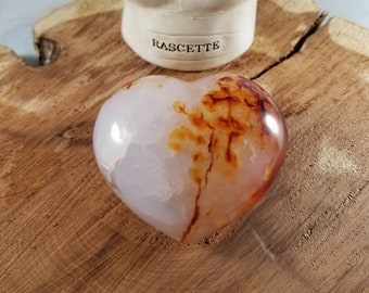 184g (6.5oz.) Red Agate Puffy Heart! ~Reiki, Witch, Mystic