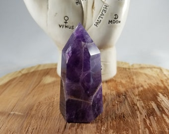 2 1/2 inch 79g (2.8oz.) Chevron Amethyst aka Dream Amethyst Generator Point! ~Witch, Mystic, Meditation, Third Eye