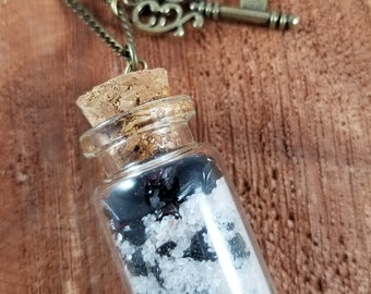 Hekate's Sacral and Root Chakra Vial w/ Skeleton Key Charm!~Boho, Witch, Mystic, Jewelry