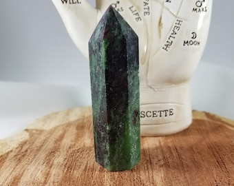 85g, 3oz 3 inch Ruby in Zoisite (Anyolite) Generator Point! ~Witch, Mystic, Reiki