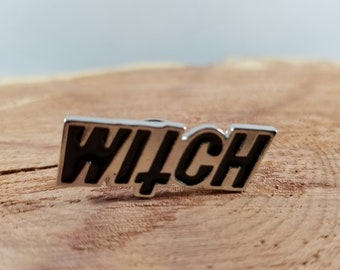 Witch Enamel Pin! ~Mystic, Magick, Goth