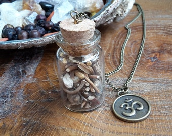 Plant Your Roots Vial w/ Om Symbol Charm! ~Boho, Witch, Mystic, Jewelry