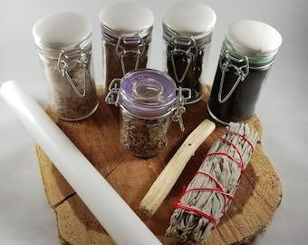 Negativity Be Gone Ritual Kit: Banishing, Cleansing, Purification