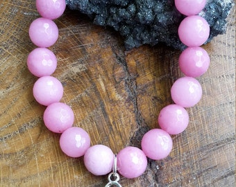 Goddess of Love Mala Bracelet: Pink Peruvian Opal, Rose Alexandrite and Kunzite w/ Goddess Charm! ~Boho, Witch, Mystic, Jewelry