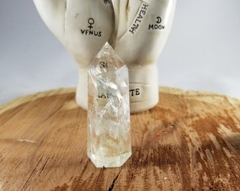 2 1/4 inch, 28g (1.0oz.) GORGEOUS Clear Quartz Generator Point w/ Rainbow Refractions! ~Witch, Mystic, Magick