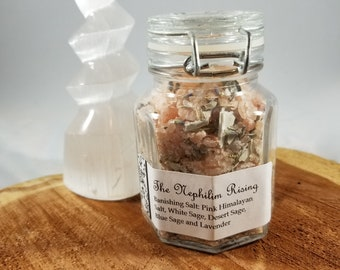 Banishing Salt/Crystal Cleanse: Pink Himalayan Sea Salt, White Sage, Desert Sage, Blue Sage and Lavender