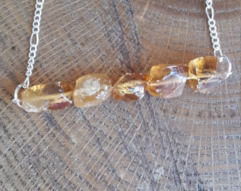 Rough Honey Calcite Bar Necklace! ~, Witch, Mystic, Jewelry