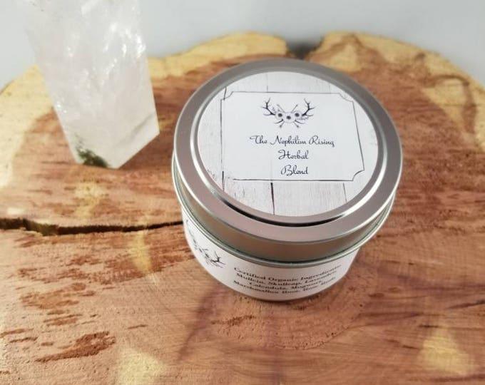 Featured listing image: Chronic Pain (4 oz. tin) Herbal Blend:  Mullein, Skullcap, Lavender, Calendula, Marshmallow Root, Mugwort, Rose Bud