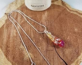 Red Flame Aura Quartz Wire Wrapped Pendant! ~Witch, Mystic, Metaphysical