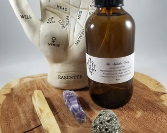 Psychic Cleanse & Protect Kit (A): Liminal Spray, Chevron Amethyst, Pyrite, Palo Santo! ~Witch, Mystic, Magick