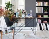 The Coleman Bar Cart by Award-Winning Designer/Maker Greta de Parry. Contemporary Design, Industrial Chic. FREE SHIPPING.