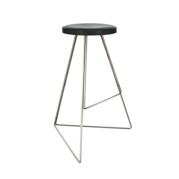 Superb The Coleman Stool Charcoal Raw Steel Winner Best Furniture By Dwell Magazine Modern Contemporary Bar Counter Stool Free Shipping Ibusinesslaw Wood Chair Design Ideas Ibusinesslaworg