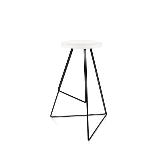 Tremendous The Coleman Stool White Marble Black Modern Stool Indoor Outdoor Winner Best Furniture By Dwell Magazine Free Shipping Caraccident5 Cool Chair Designs And Ideas Caraccident5Info