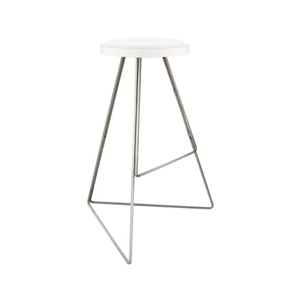 Fine The Coleman Stool White Marble Raw Steel Winner Best Furniture By Dwell Magazine Modern Contemporary Bar Counter Free Shipping Caraccident5 Cool Chair Designs And Ideas Caraccident5Info