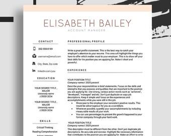 Resume Maker Etsy