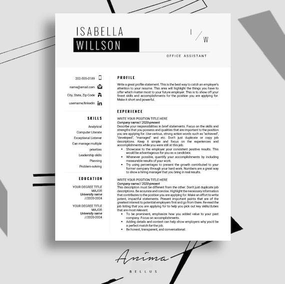 Resume template, Resume, Modern, Resume PDF, Resume format, Cv,  Professional resume template, Cover Letter, Curriculum vitae, Job | \