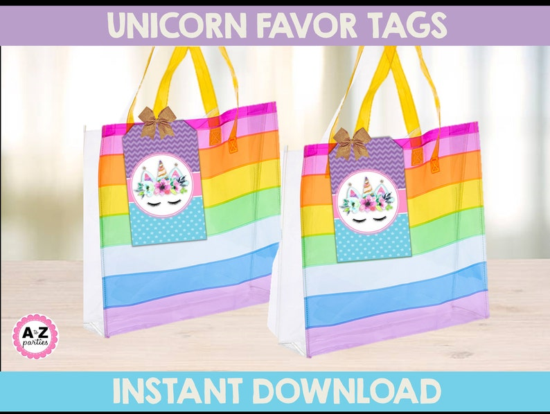 Download Centerpiece Cupcake Topper Unicorn Glitter Party UNICORN PARTY Package Signs Unicorn Party birthday- Unicorn Banner