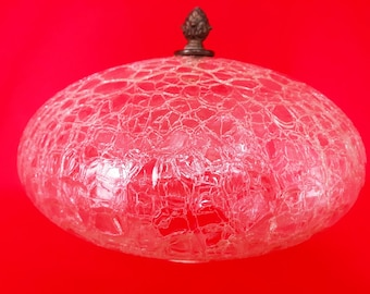 Vintage Clear Frosted Glass Lamp Shade Bell Scalloped Rimmed Etsy