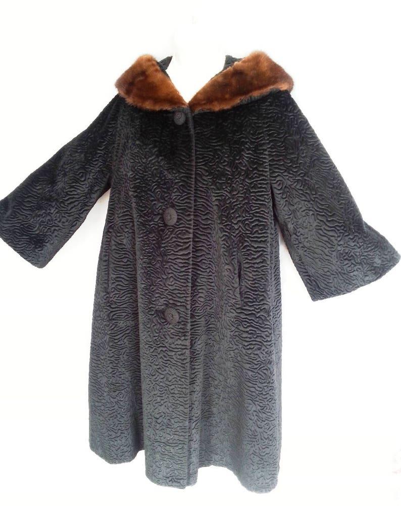 1862f5e28e5 Vintage Borre Styled by Sportowne Black Faux Persian Lamb Fur