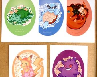 A5 prints - Pokemon move inspired tribute illustrations